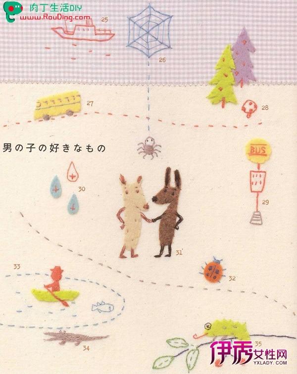 分组可爱小兔图案