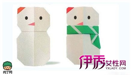 超级简单又可爱的雪人折纸