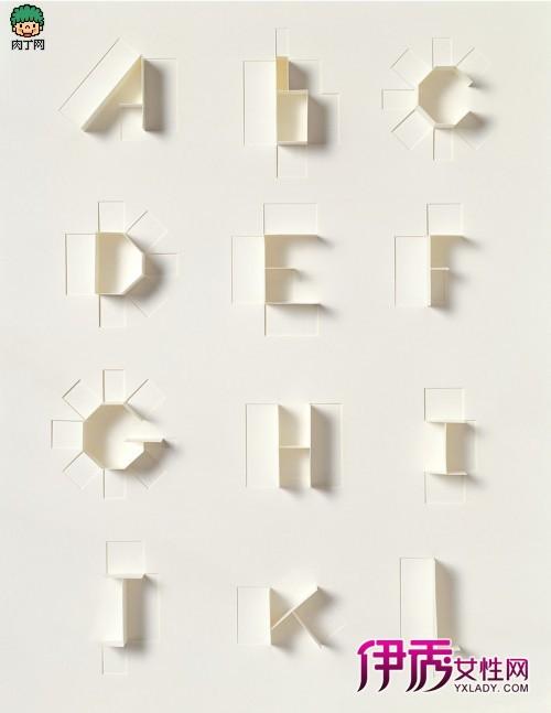 折纸立体字创意diy作品欣赏