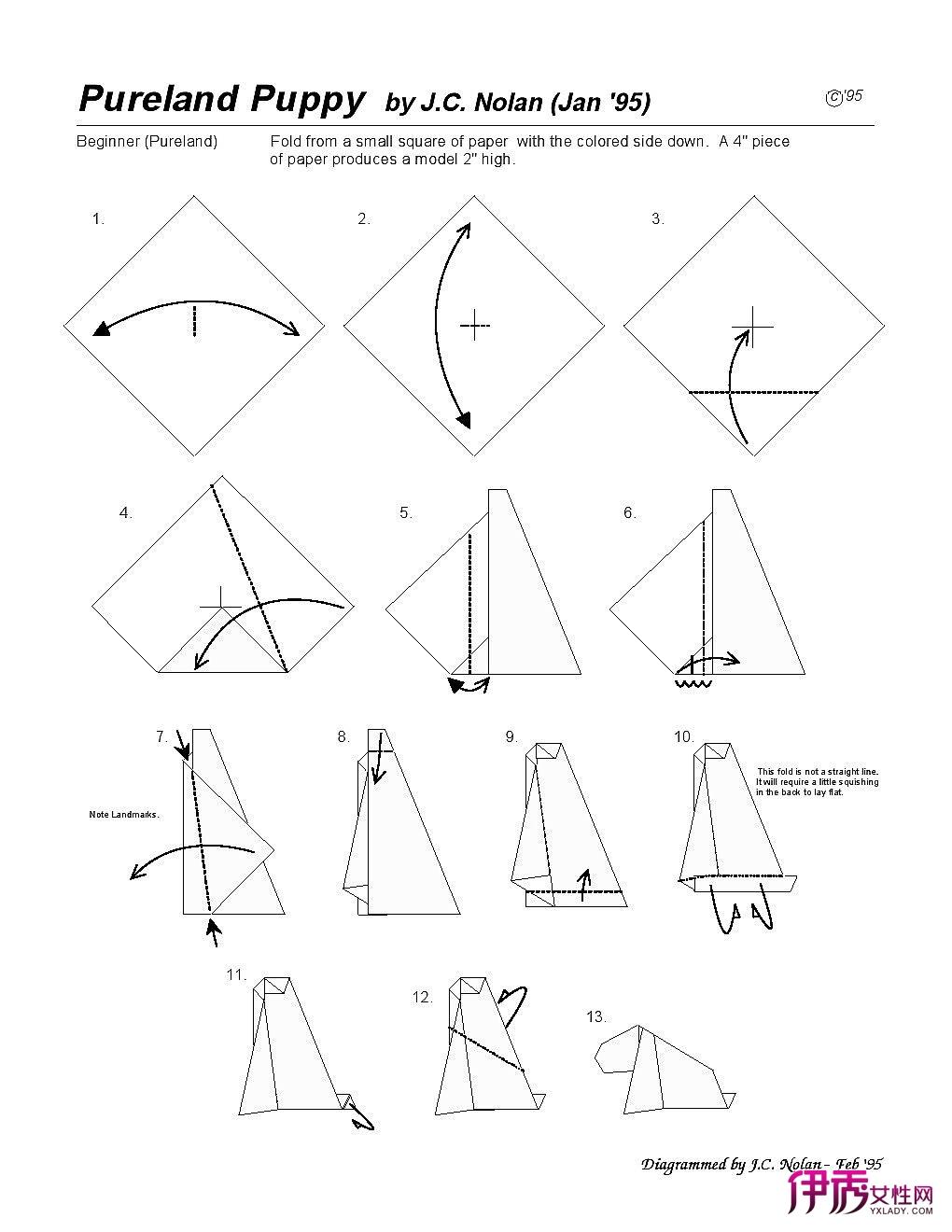 朋友们一定会喜欢动物折纸,下面就介绍一款简单的小狗折纸方法图解.