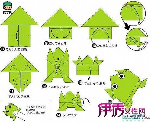 会跳的青蛙折纸的折法