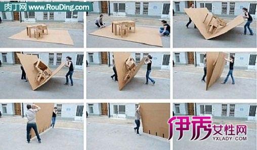 纸板飞机制作过程
