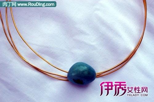 用铜线手工制作创意项链diy方法
