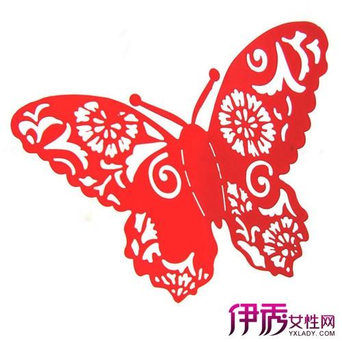 剪纸蝴蝶的半边画法