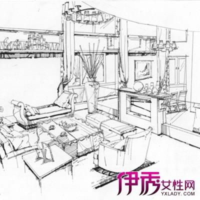 室内手绘线描是素描的一种,用单色线对物体进行勾画.