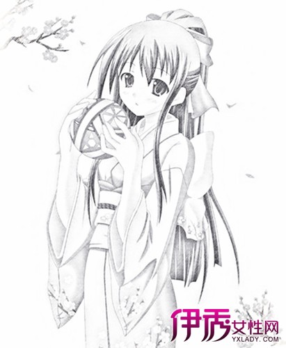 【图】素描和服动漫美少女大全 4个技巧让你轻松画出曼妙美少女