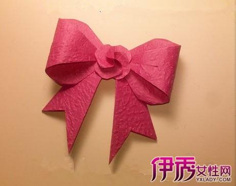 图】蝴蝶结小花折纸大全图解 小编7步教你折成简单可爱小花-小花折图片