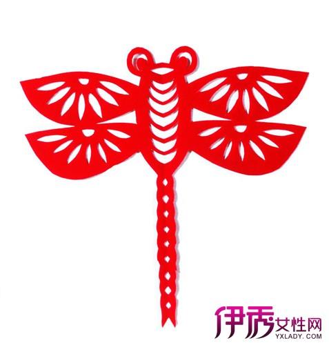 蜻蜓剪纸图片