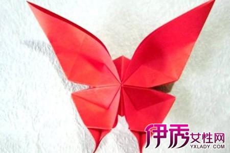 蝴蝶折纸花步骤图解