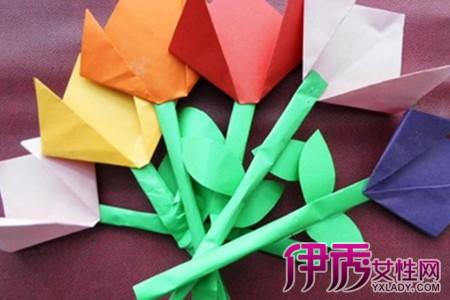 简易折纸花步骤图解