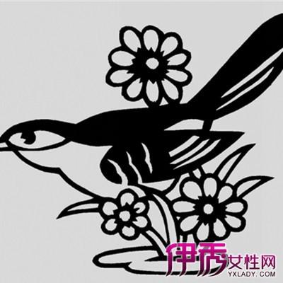 剪纸花纹 蝴蝶 阳刻