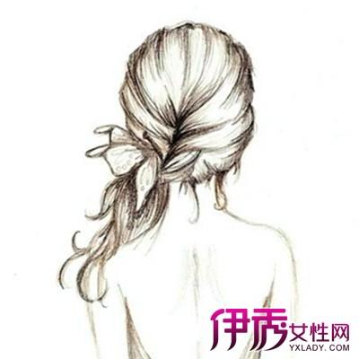 【图】手绘长发女孩背影图片展示