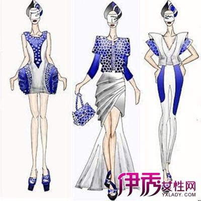 手绘服装设计图应该比服装本身,比着装模特更具典型,更能反映服装的