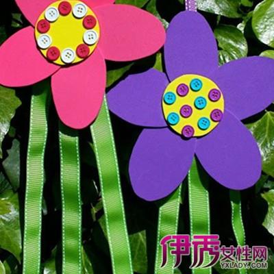【海绵纸花朵吊饰图片】【图】可爱精致海绵纸花朵