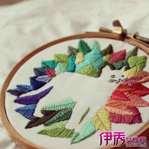 【图】手工刺绣是什么? 介绍手工刺绣的十二大主要针法-手工刺绣图片