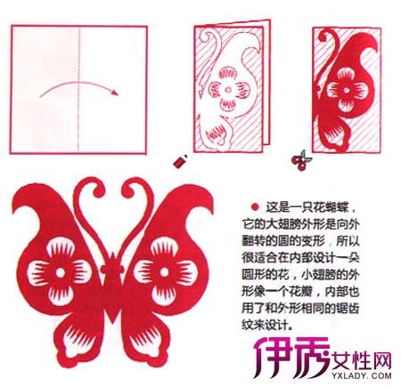 蝴蝶对称剪纸步骤