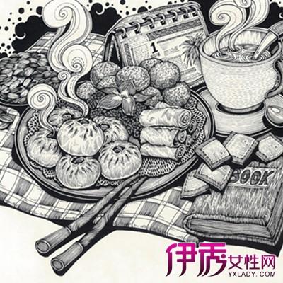 【图】黑白创意手绘装饰画分享