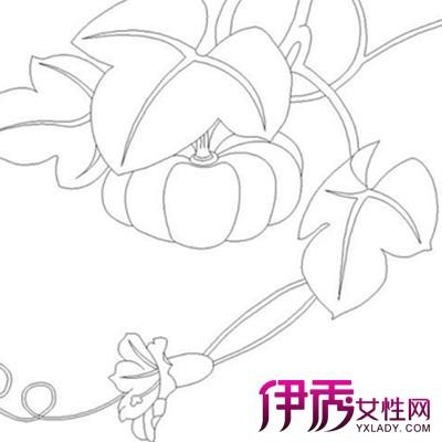 【图】超简单的儿童南瓜叶简笔画 带你体验孩子卡哇伊的内心-南瓜叶