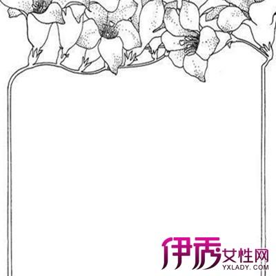 手绘花边边框简笔画