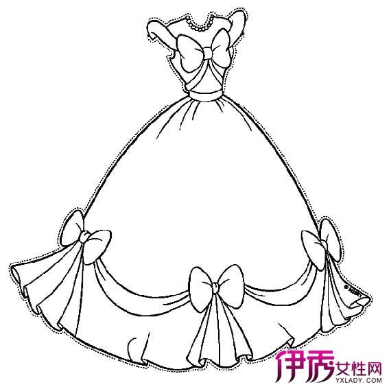 动漫礼服裙子画法简笔画_动漫古风裙子画法铅笔画图片