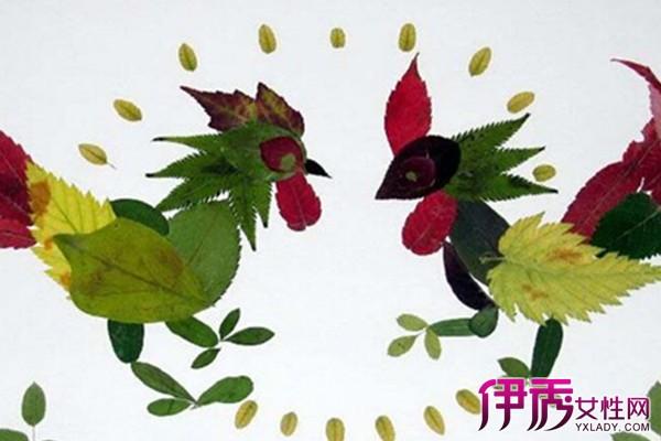 手工制作树叶拼图图片