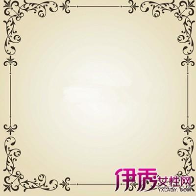 手绘简单边框花纹图片