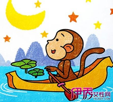 【图】彩色猴子卡通简笔画