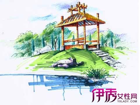 【图】公园亭子手绘效果图示例 6点教你轻松学会手绘公园亭子