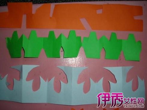 剪纸创作过程中,我们可以注意到许多剪纸作品都有花边的修饰.