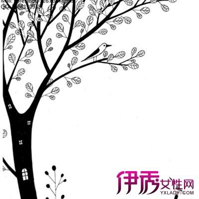 【图】展示创意黑白手绘插画树的图片 盘点插画的7大表现方法