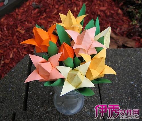 【图】手工纸花的做法图解 三个简单易学的花朵折纸方法-手工纸花的