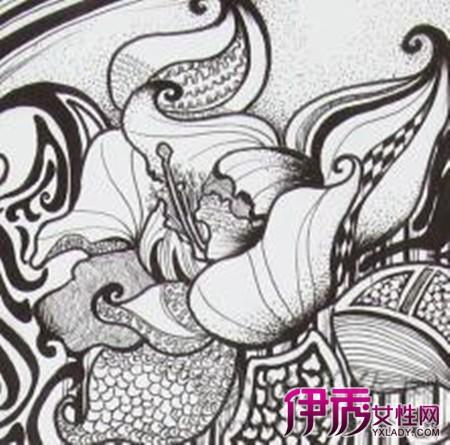 花设计素描创意图片图片