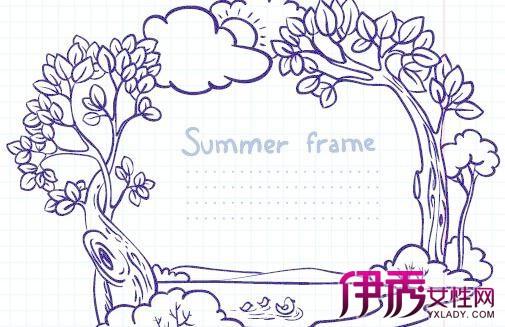 小清新简单手绘边框图片