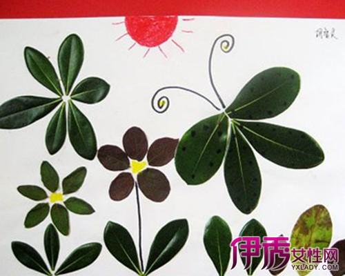 【图】简单手工树叶粘贴画图片欣赏 为你介绍贴画的种类