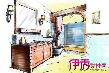 【图】卫生间手绘效果图