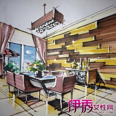 家居书房设计手绘效果图分享展示