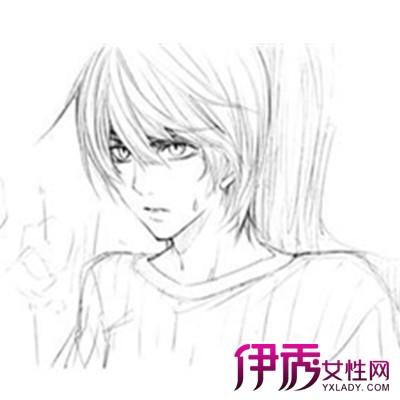 【图】简介黑白手绘动漫人物男画法