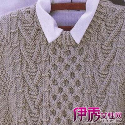 男士毛衣编织花样图_男士毛衣编织款式图片