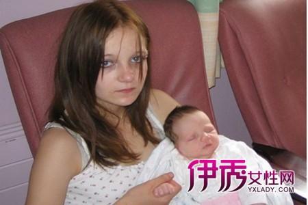 12岁女孩英国最年轻的妈妈