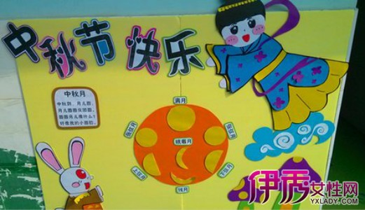 【图】喜迎中秋节幼儿园主题画 设计幼儿园主题墙饰