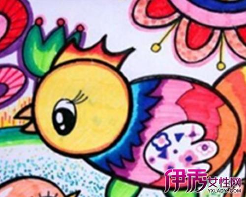 儿童简笔画涂色风景