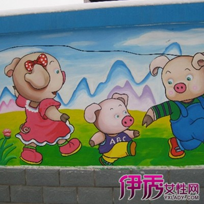【图】幼儿园卡通壁画图片赏析 孩子的童话世界