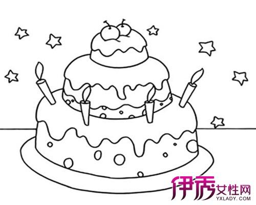 【图】幼儿蛋糕简笔画展示 小编带你欣赏各种各样的蛋糕简笔画