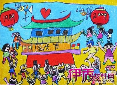 【图】全国各地儿童画庆国庆 用画笔体现爱国之心