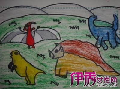 【图】幼儿恐龙绘画图片大全欣赏 向你介绍绘画对幼儿的好处-幼儿恐