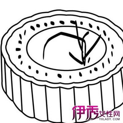 【图】轻松易学的幼儿园月饼简笔画 用简单线条勾勒中秋的佳肴
