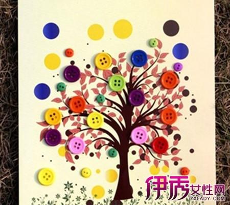 【图】幼儿园亲子手工作品图片欣赏 教你手工制作扣子画