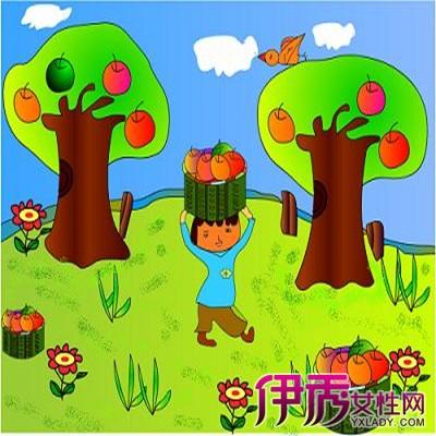 幼儿秋天水果简笔画