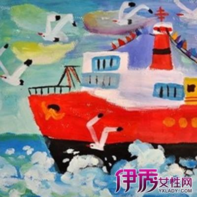 儿童创意水粉画范画