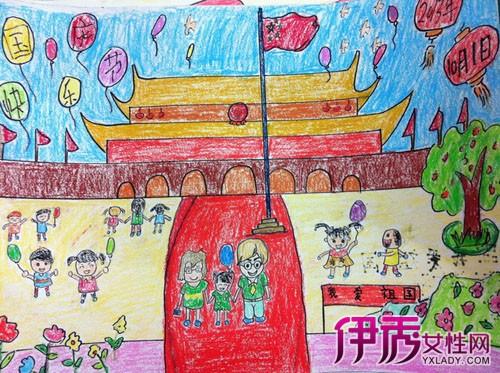 小学生国庆绘画作品